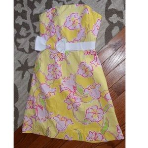 Lilly Pulitzer floral amberly strapless dress